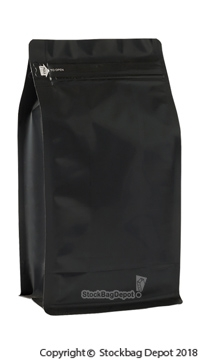 Square Bottom Gusseted Bags with E-Zip